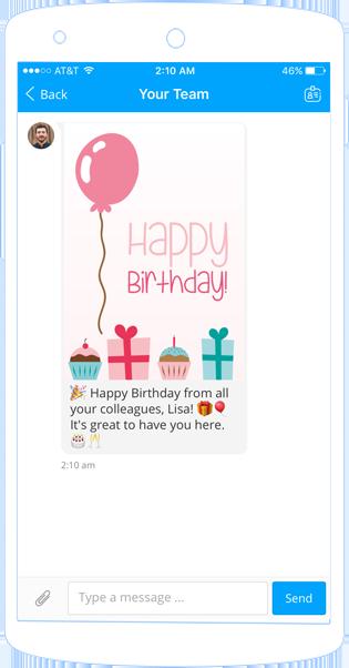 Staffbase Birthday Notification Chatbot