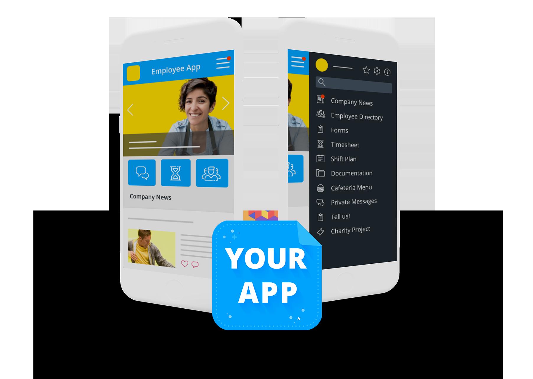branded employee app staffbase