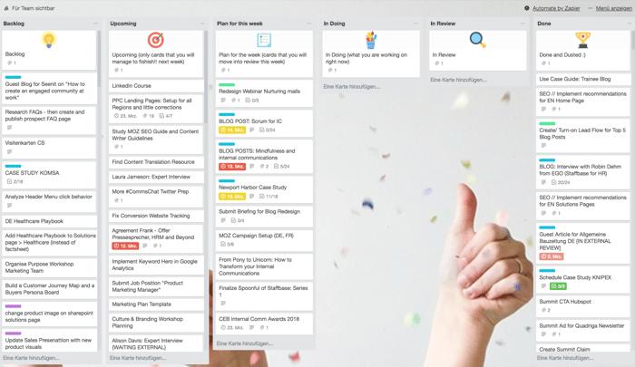 Sprint for internal Communications, Teamwork