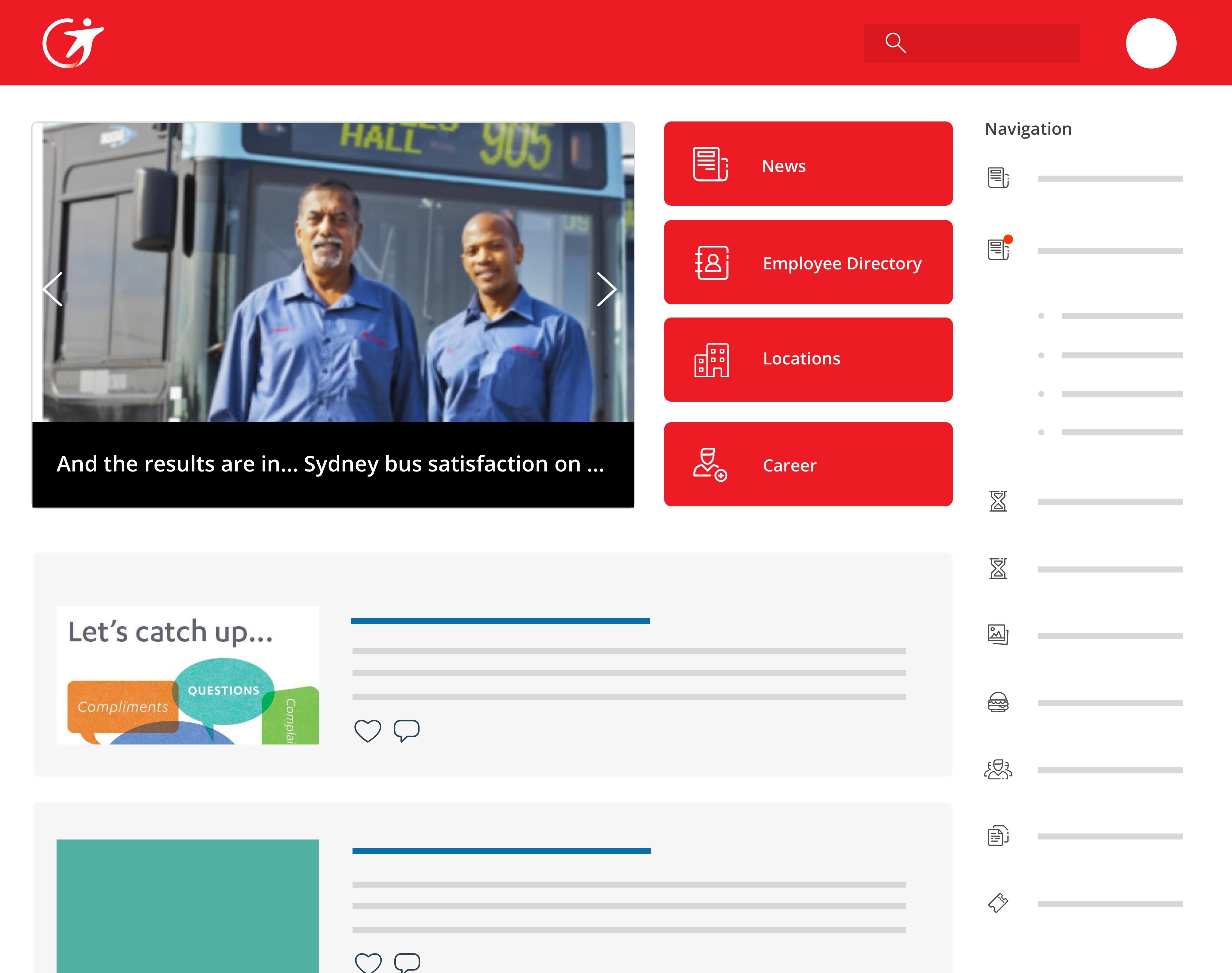 MyTransdev desktop employee communication