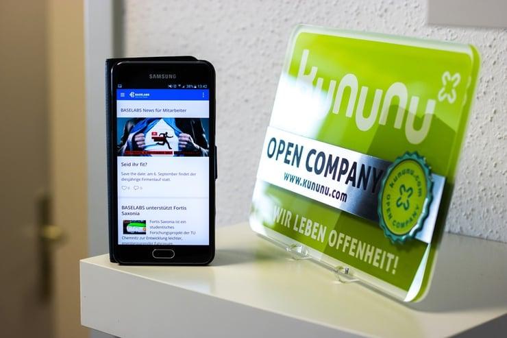 internal communications app, BASELABS