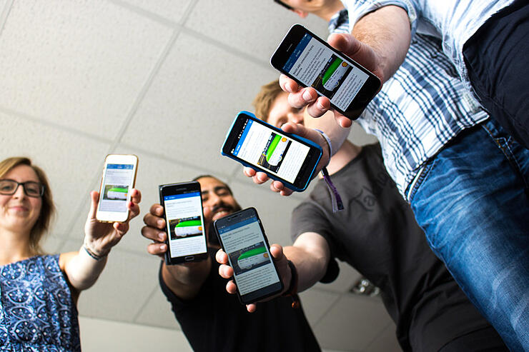 employee app, mobile internal communication, BASELABS