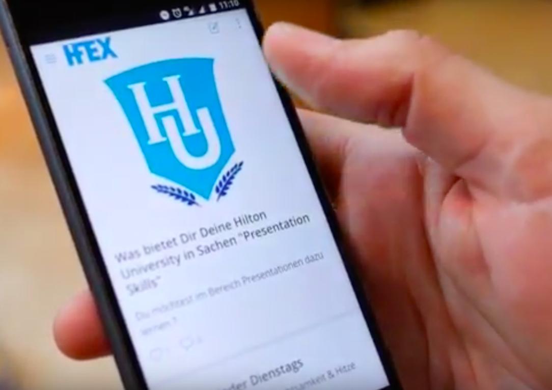 HFEX, Hilton, Mitarbeiter-App