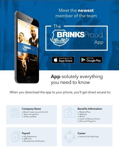 BrinksProud Flyer, employee-app