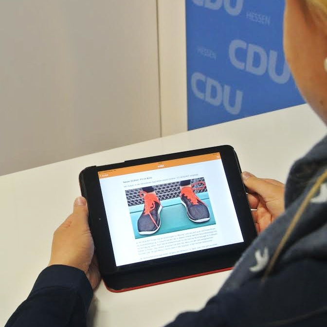 CDU Hessen, internal communications, internal comms app, employee app