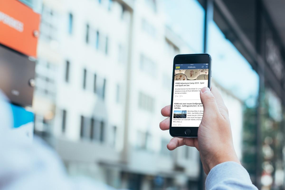 Porr mobile employee app