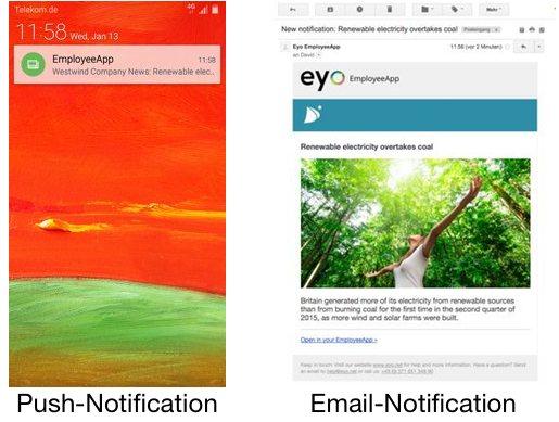 communications app notification options