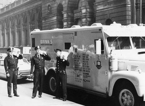 Vintage Brinks Car, Brink's employee app