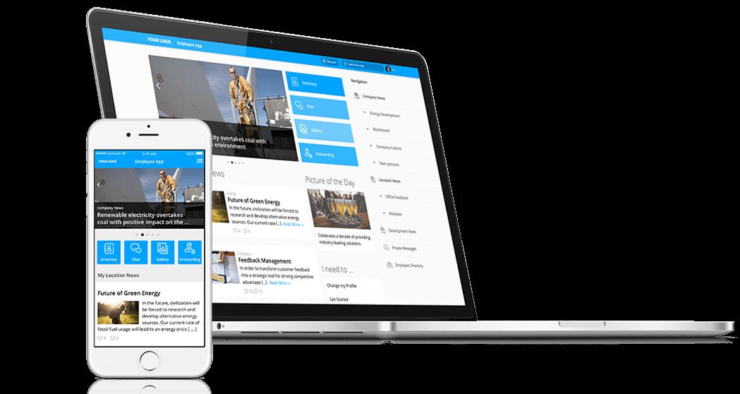 Start Page Feature Staffbase Employee App Intranet Employee Magazine
