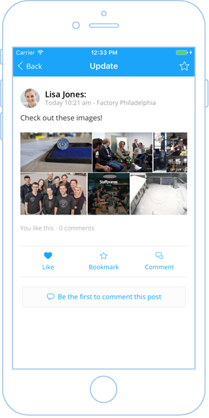 Adaptive attachment layout for update news posts