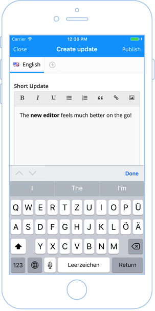 New in-app content editor