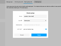 Backoffice: Create a new open group