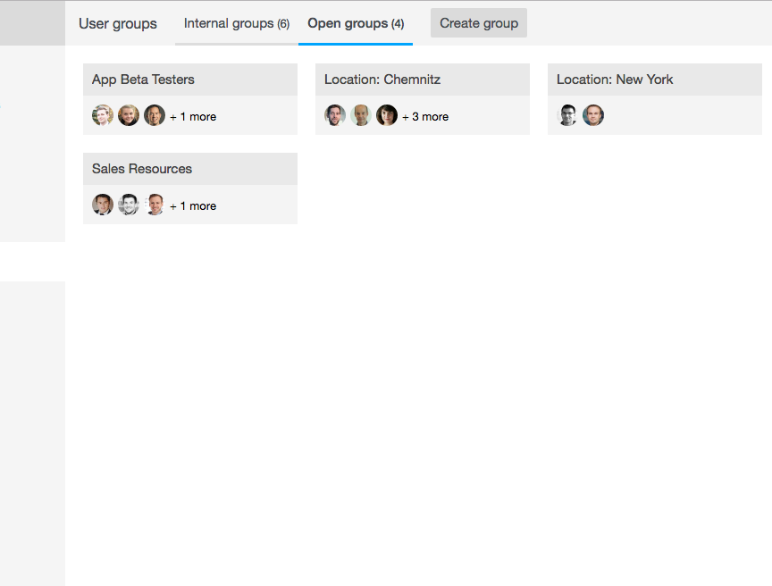 Backoffice: Manage open groups