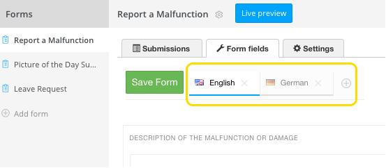 form multilingual