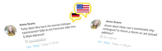on-demand translation for comments