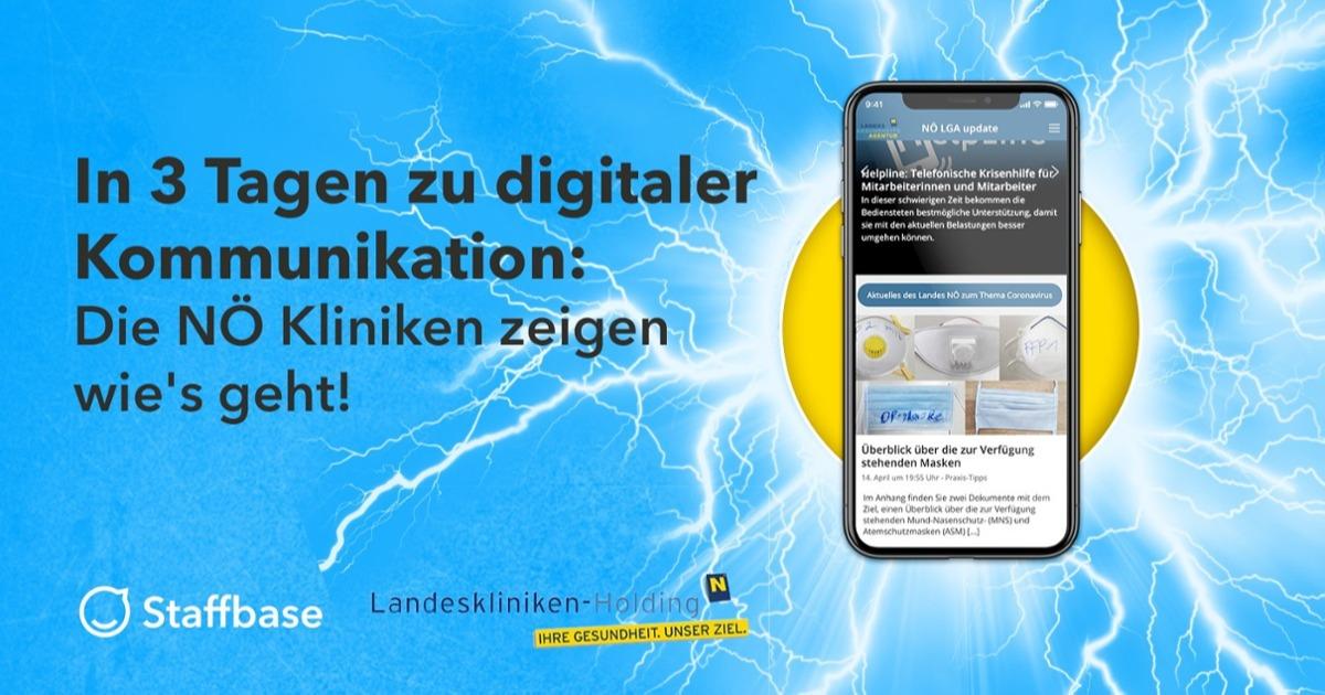 Titelbild zum Webinar über die App der Nordösterreichischen Landeskliniken